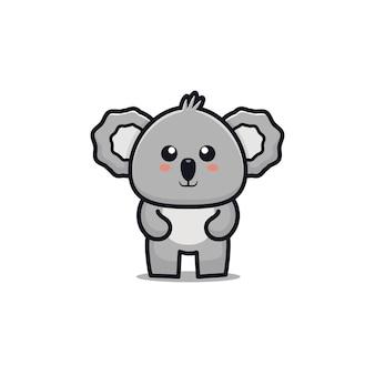 Illustrazione di cartone animato carino koala