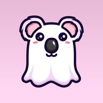 Simpatico disegno del personaggio del fantasma del koala