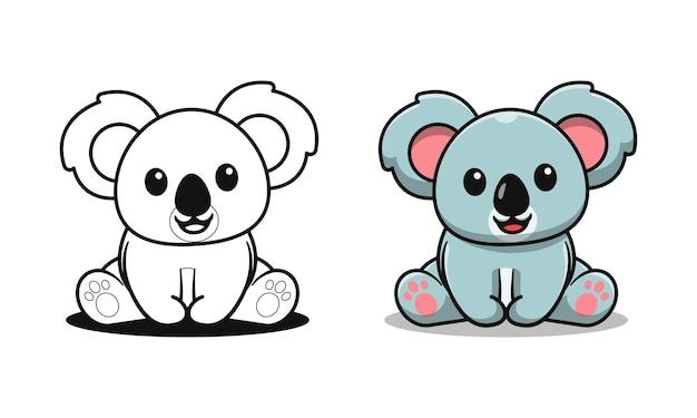 Koala carino è seduto cartoni da colorare per bambini