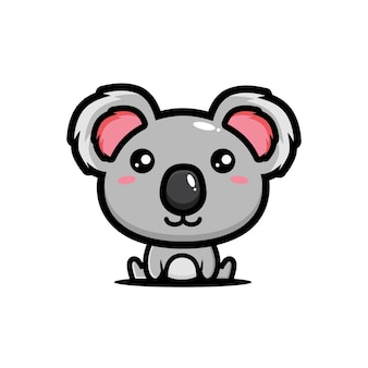 Carino koala è seduto