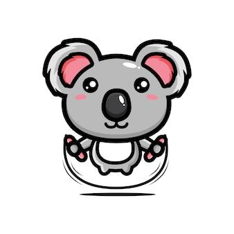 Carino koala saltando