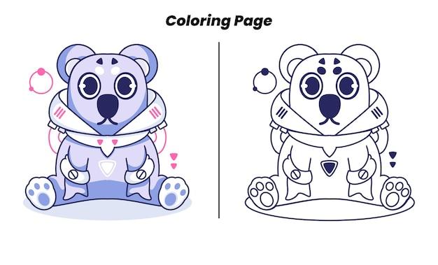 Koala carino con pagine da colorare