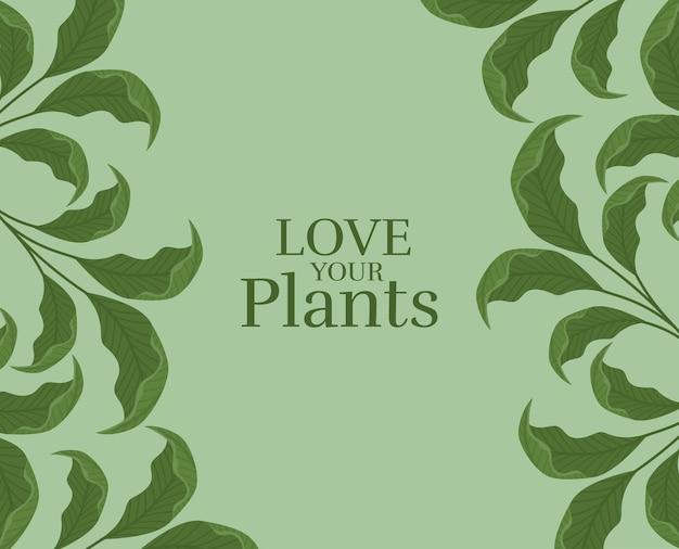 Poster di foglie carine