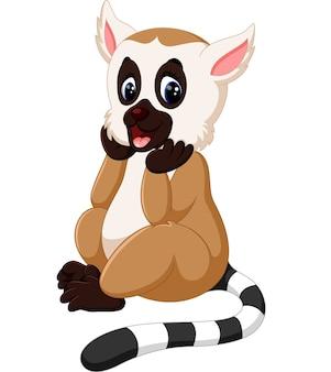 Cartone animato carino lemure