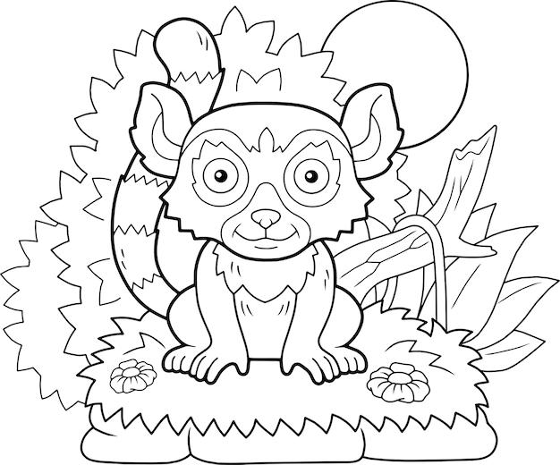 Carino lemure illustrazione