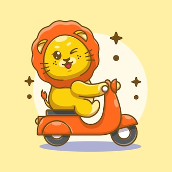 Fumetto sveglio del motorino di guida del re leone