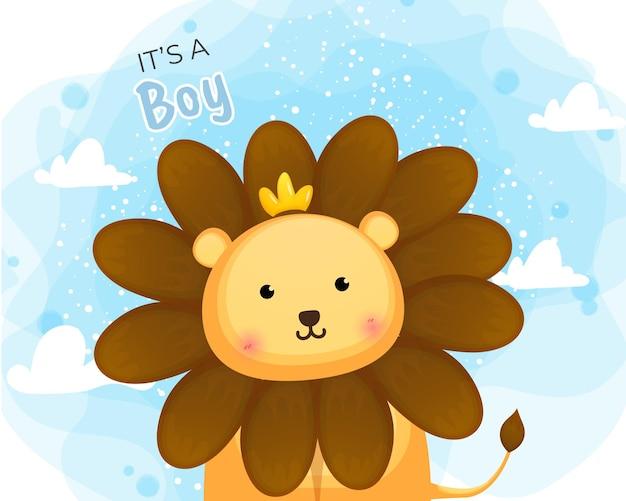Cartone animato carino principe leone