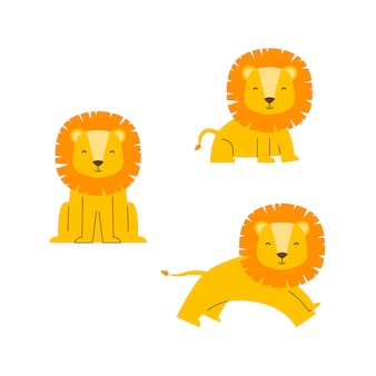 Cute lion vector character
