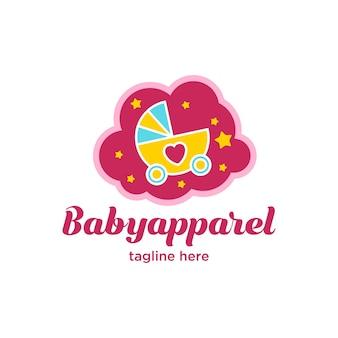 Carino piccolo logo abbigliamento bambino