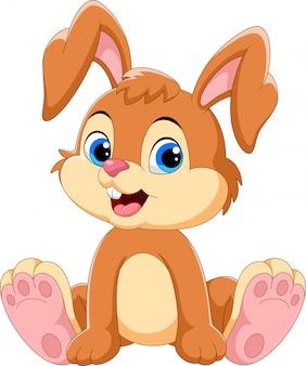 Simpatico cartone animato coniglietto