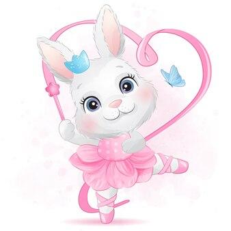 Simpatico coniglietto con ballerina
