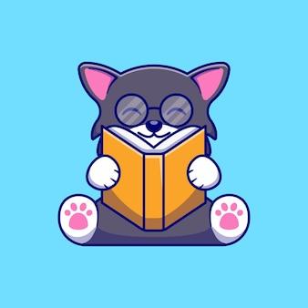 Simpatico disegno di illustrazione di un gattino