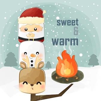Simpatico marshmallow natalizio