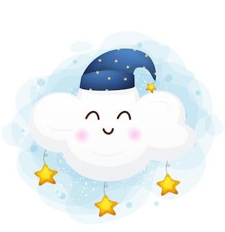 Piccola illustrazione sveglia della nuvola