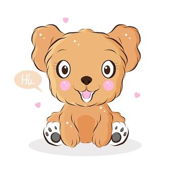 Illustrazione sveglia del piccolo cane