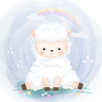 Illustrazione di agnellino carino