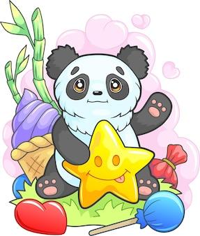 Simpatico piccolo panda