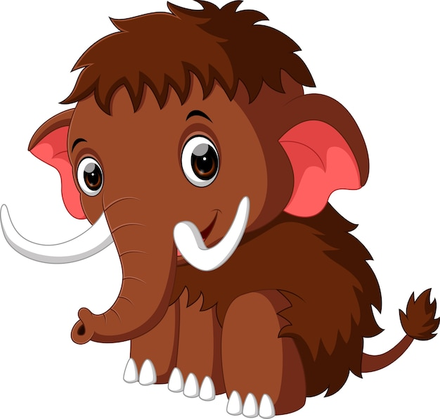 Simpatico cartone animato di mammut