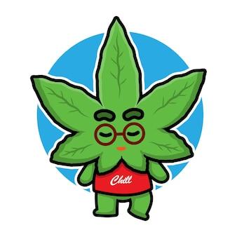 La marijuana carina sta abbracciando un cuore
