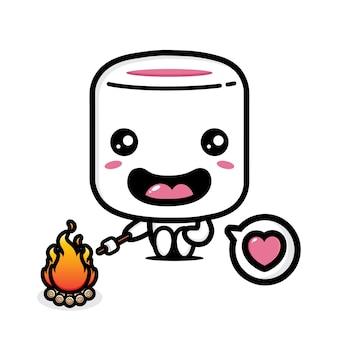 Marshmallow carini che scaldano i marshmallow