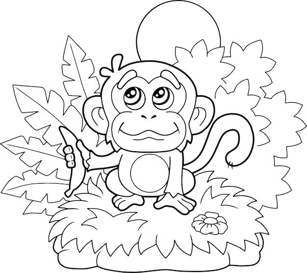 Illustrazione di scimmia carina
