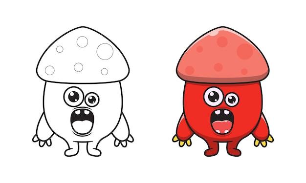 Pagine da colorare di cartoni animati mostro carino