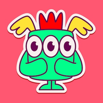 Simpatico personaggio del mostro