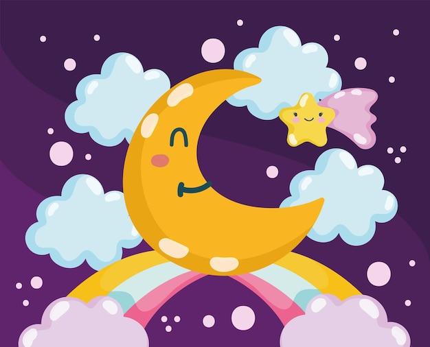 Luna e stella carine