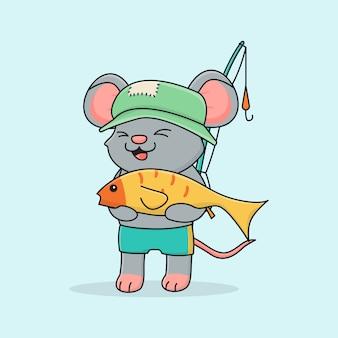 Pesca del topo carino