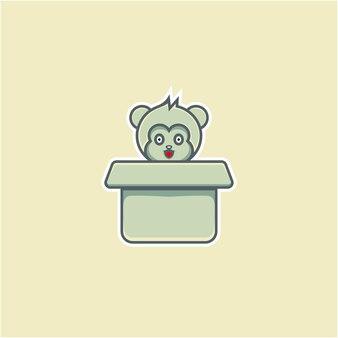 Simpatica illustrazione del topo in cartone in stile cartone animato