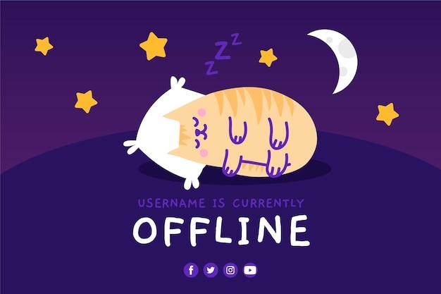 Simpatico banner twitch offline Vettore Premium