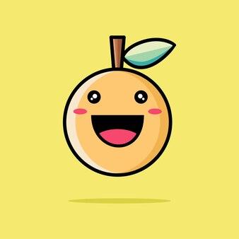 Simpatico cartone animato arancione
