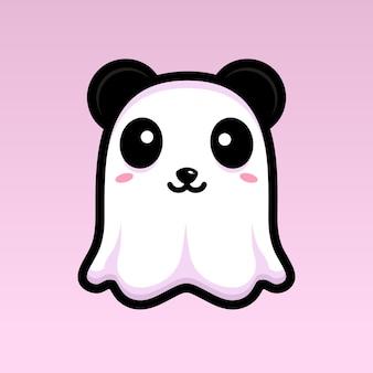 Simpatico design del personaggio del fantasma del panda