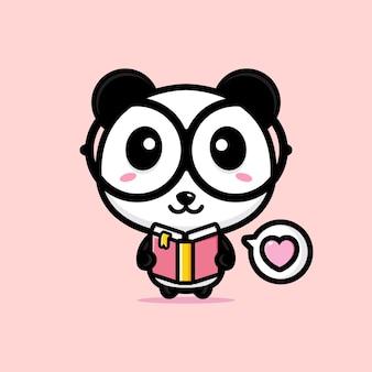 Simpatico disegno della mascotte del panda
