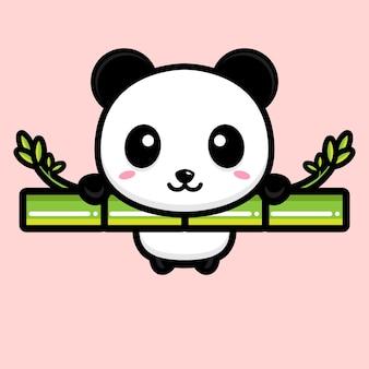 Simpatica mascotte del panda