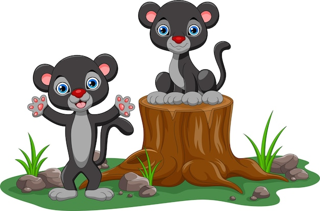 Simpatico cartone animato pantera