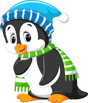 Cartone animato carino pinguino