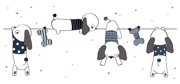 Illustrazione di cane carino