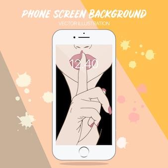 Sfondo dello schermo del telefono carino