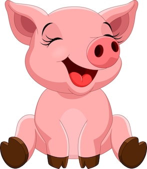 Cartone animato carino maiale