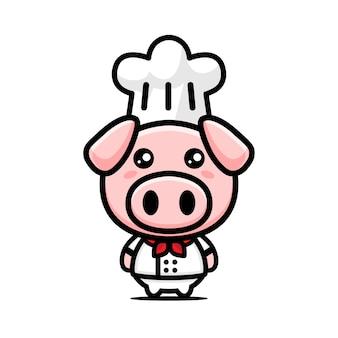 Chef di maiale carino