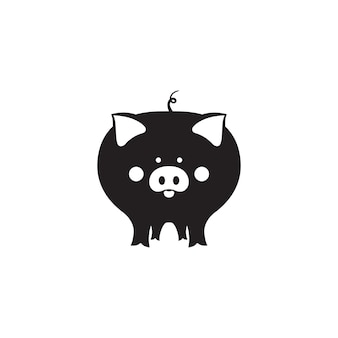 Il maiale carino è un simbolo del capodanno cinese 2019.
