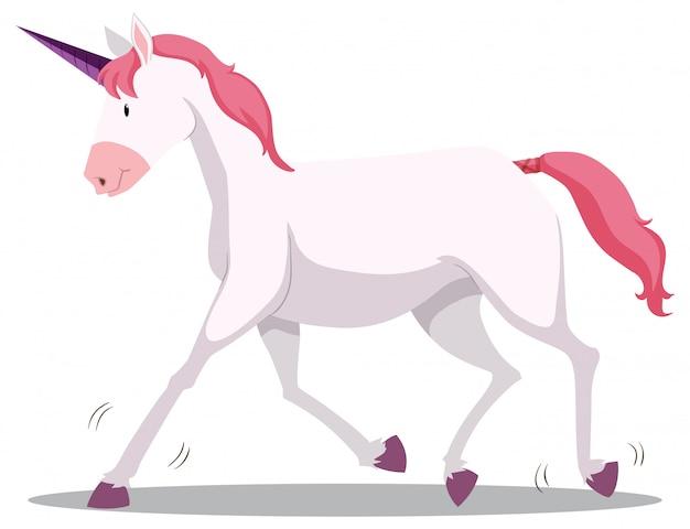 Carino unicorno rosa e viola