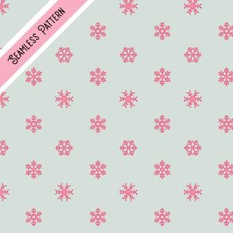 Modello senza cuciture di fiocchi di neve rosa carino
