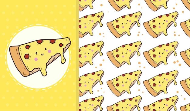 Modello senza cuciture carino pizza