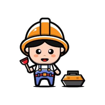 Simpatico personaggio idraulico
