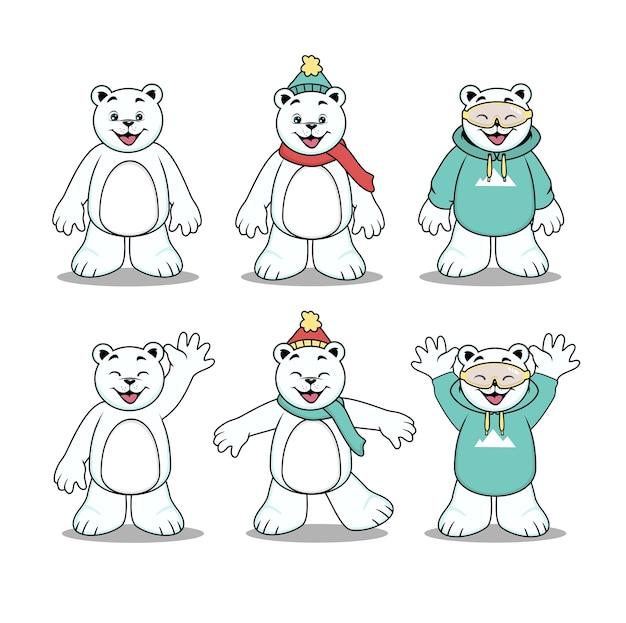 Simpatico personaggio dei cartoni animati di orso polare