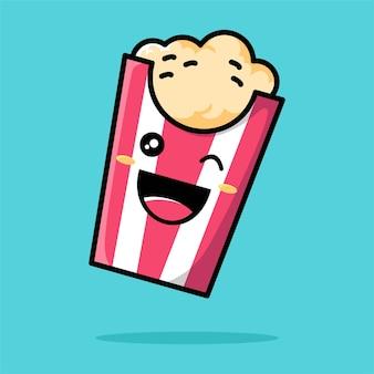 Simpatico cartone animato popcorn
