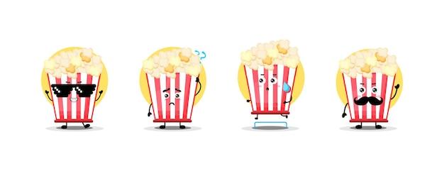 Simpatica collezione di personaggi popcorn
