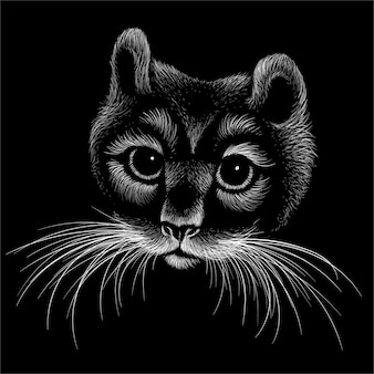 Simpatico sfondo stile gatto stampa.